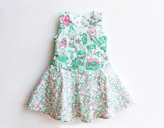Mermaid Girl Baby Girl Dress Sewing Pattern Pdf Overall Baby Etsy