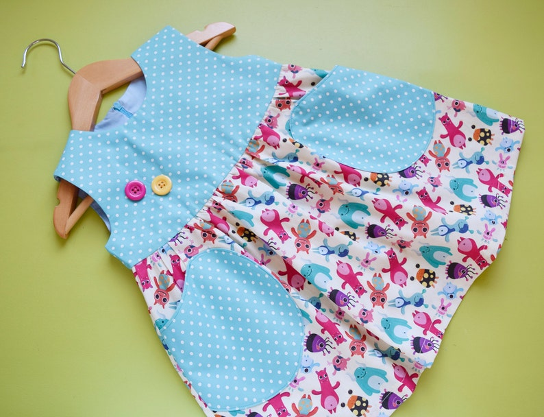 b6555f368 YUMMY Baby Girl Dress sewing pattern Pdf Overall Jumper