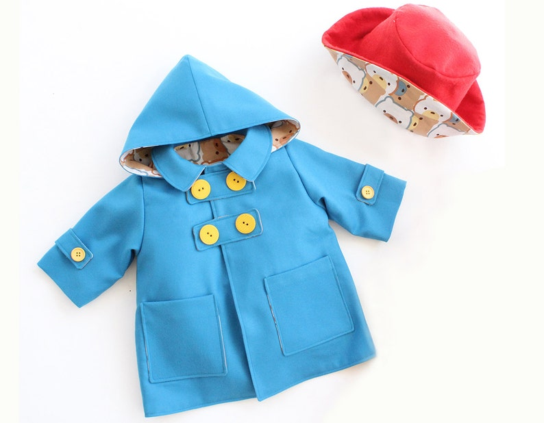 dff6de177 WITTY Boy Girl Jacket HAT Kids Baby sewing pattern Pdf