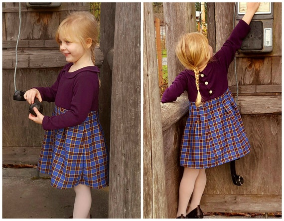 Pauline Girl Baby Girl Dress Pattern Pdf Sewing Jersey Knit Etsy