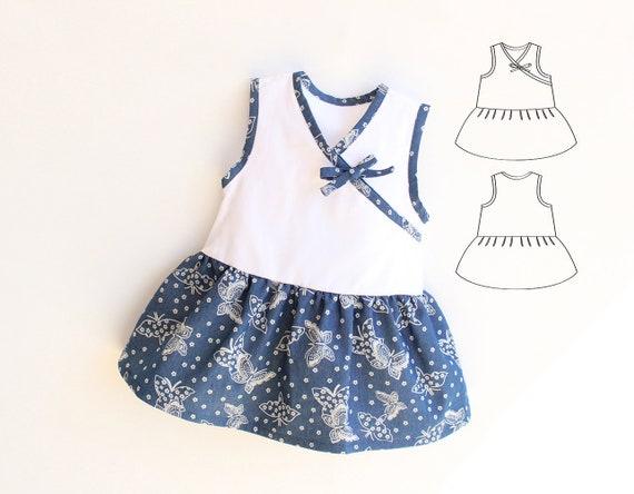 Baby Girl Dress Sewing Pattern Pdf Pretty Easy Sleeveless Etsy