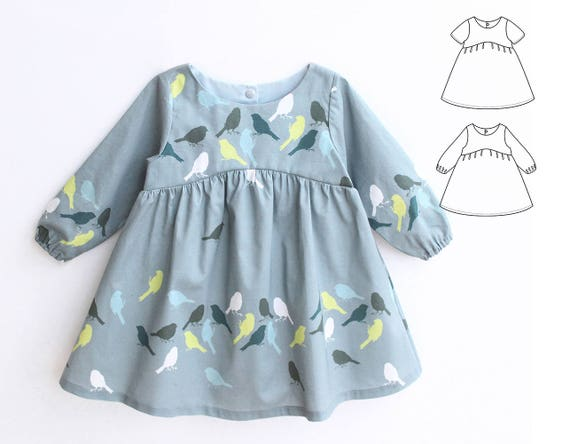 BLUE TIT Girl Baby Girl Dress Pattern Pdf Sewing Woven Dress Etsy Magnificent Toddler Girl Dress Patterns