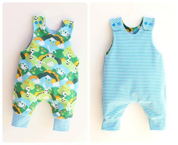 JUMPY Baby Romper sewing pattern Pdf REVERSIBLE Jersey Woven