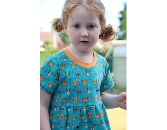 Girl Baby Girl Dress Pattern Pdf Sewing Knit Jersey Dress Etsy