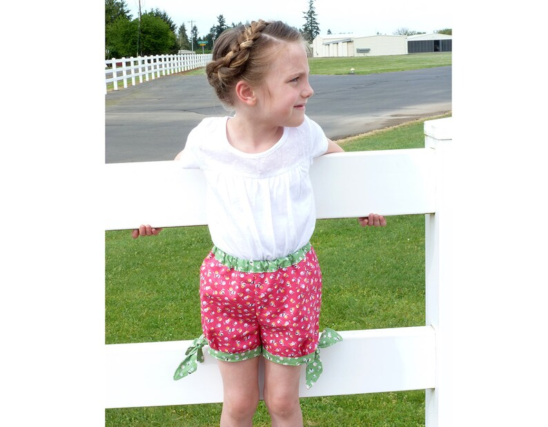 8346733203 Girl Shorts pattern Pdf sewing pattern plus Shirt Applique | Etsy
