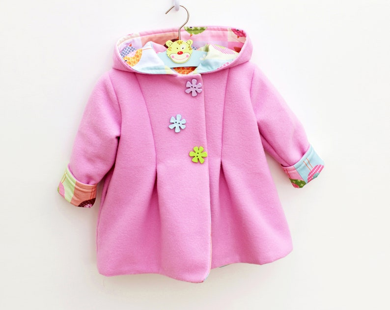 SWEETIE Hooded Girl Baby Girl Jacket pattern Pdf sewing image 0