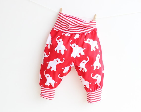 JUNGLE Baby Boy Girl Harem Pants sewing pattern Pdf Knit