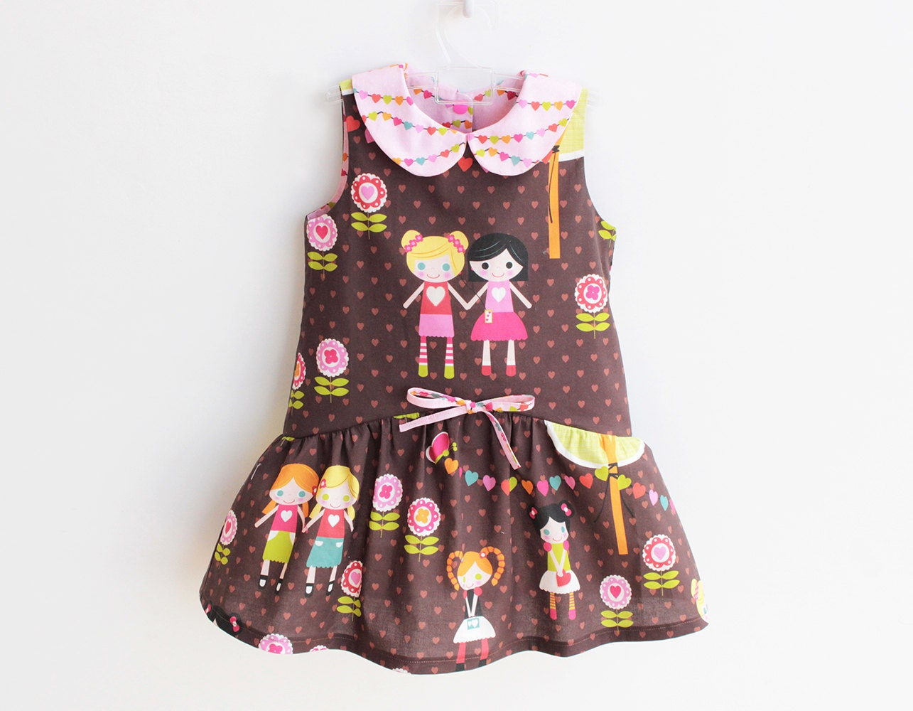 9025a3aa55ba3 BFFs Girl Baby Girl Dress pattern Pdf sewing, Easy Sleeveless Collared  Dress, Peter Pan Collar, newborn 3 6 9 12 18 m 1 2 3 4 5 6 yrs