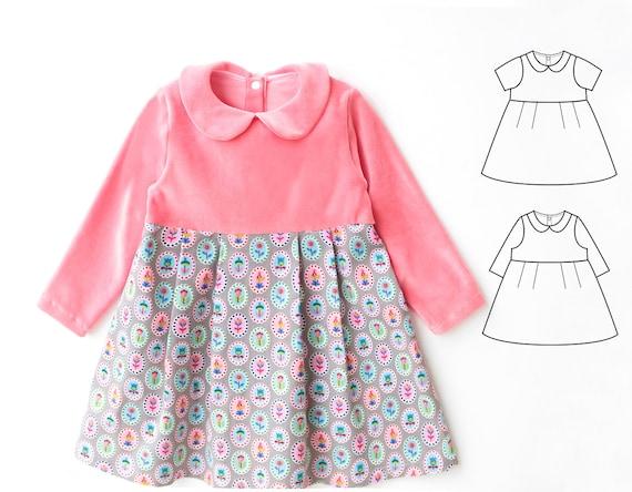 Pauline Girl Baby Girl Dress Sewing Pattern Pdf Jersey Knit Etsy