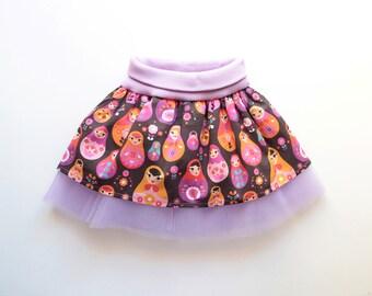 WOODLAND Girl Baby Girl Skirt pattern Pdf sewing pattern, Woven Tulle Skirt, baby girl toddler 6m 9m 12m 18m 1 2 3 4 5 6 7 8 9 10 years