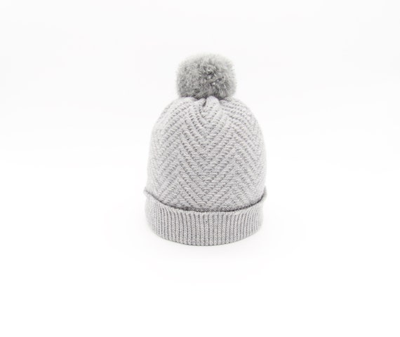 2529ca4bc2f Pure Cashmere Hat Grey Knit Beanie Cashmere Knit Hat