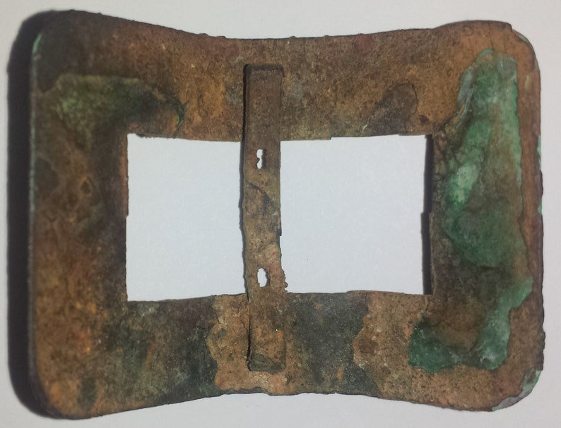 18th century 1700/'s colonial civilian single shoe buckle brass in great dug condition