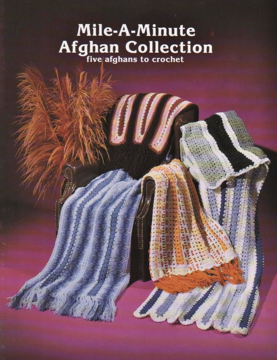 Pdf Pattern Mile A Minute Afghan Collection Jao Enterprises Etsy