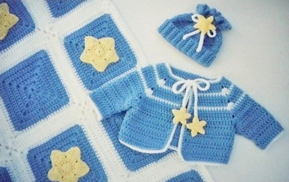 Pdf Crochet Pattern Star Struck Crocheted Baby Star Etsy