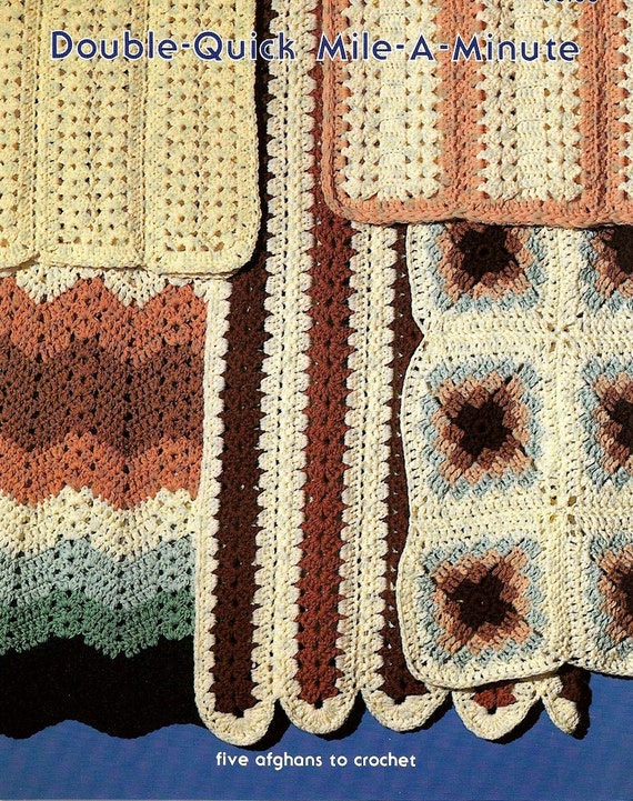 Pdf Pattern Double Quick Mile A Minute 5 Super Fast Afghans Etsy
