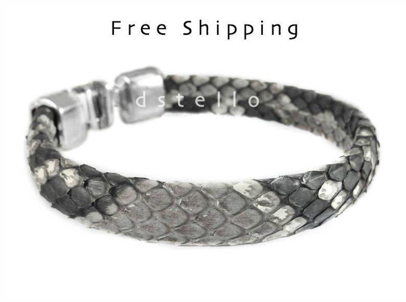 d615f968f33 Mens bracelets Real Python Skin bracelet Snakeskin Genuine | Etsy