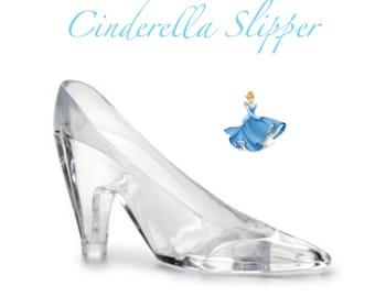 "110846bff038 Cinderella Slipper 6"" Acrylic Slipper   Cake Topper   Party Favors  Cinderella Party Cinderella Shoe"