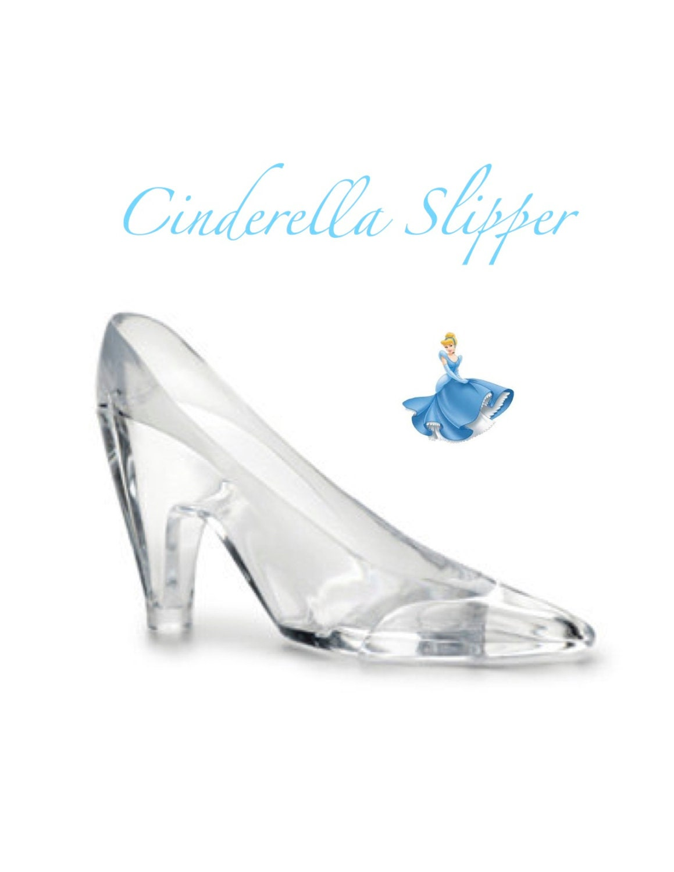 Cinderella Slipper 6 Acrylic Slipper / Cake Topper / Party
