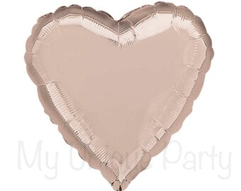 "Coeur en or Rose 18"" papier Mylar ballon coeur ballon mariage amour douche fiançailles Photo Prop"