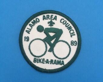 Vintage Alamo Boy Scout Bicycle Patch 1989
