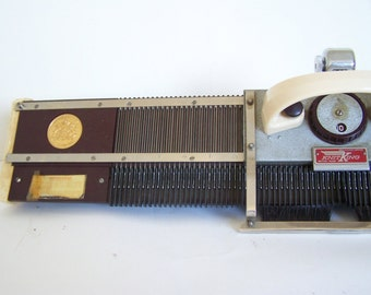 Vintage 1950s Knit King Knitting Machine with hard carry case