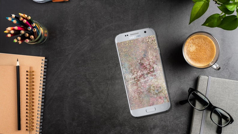 Phone Background Wallpaper Art Pink Gold Marble Granite image 0