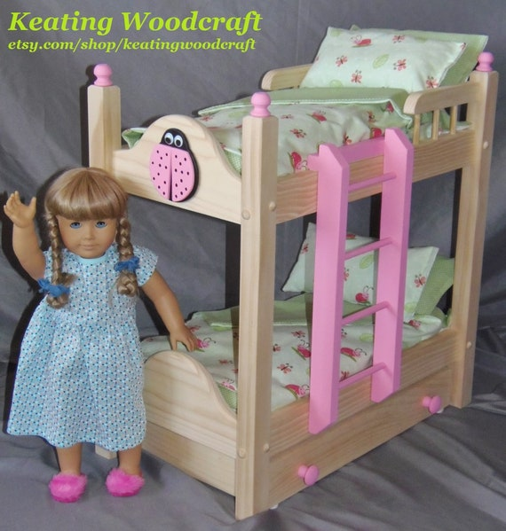 Doll Bunk Bed With Trundle Bed Perfect For The American Girl Etsy