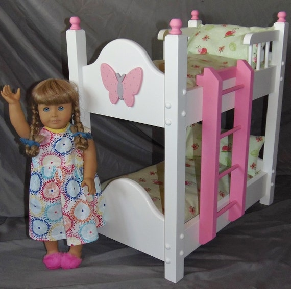 Doll Bunk Bed With Adorable Lady Bug Bedding For American Girl Etsy
