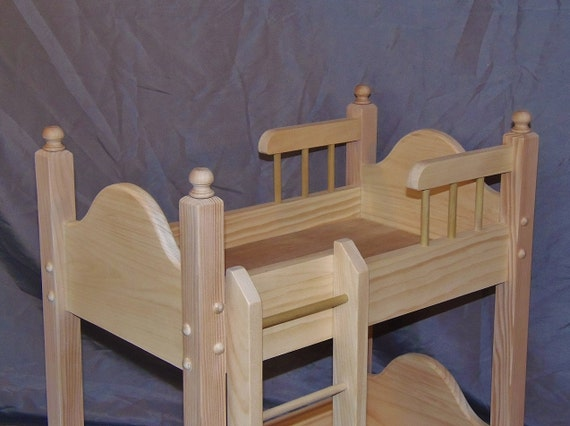 """WOOD DOLL BED UNFINISHED PINE WOOD GOOD FOR 18/"""" DOLLS /& american girl doll"""