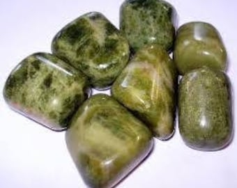 Vesuvianite, Tumbled