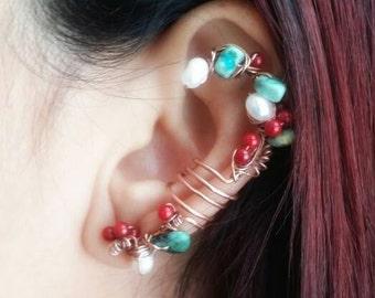 Statement Earring Cuff - Ear Cuff Non Pierced - Non Pierced Ear Cuff - Non Piercing Earrings - Ear Cuff Earrings - Bohemian Ear Cuff