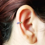 LBGTQ Pride Gay Pride No Piercing Rainbow Ear Cuff - Pride Ear Cuff - Gay Pride Ear Cuff - Hoop Ear Cuff - Gay Pride Jewelry