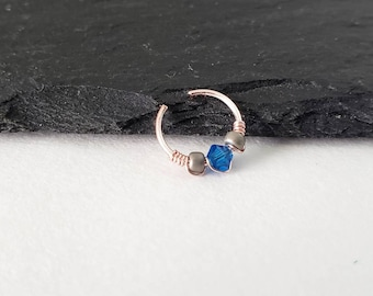 Sterling Silver Daith Ring - Faux Daith Earring - Daith Ring - Faux Piercing - Daith Piercing - No Piercing Jewelry - 8mm Daith Ring