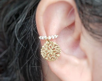 Snowflake Ear Cuff, No Piercing Jewelry, Stocking Stuffers, Conch Earrings