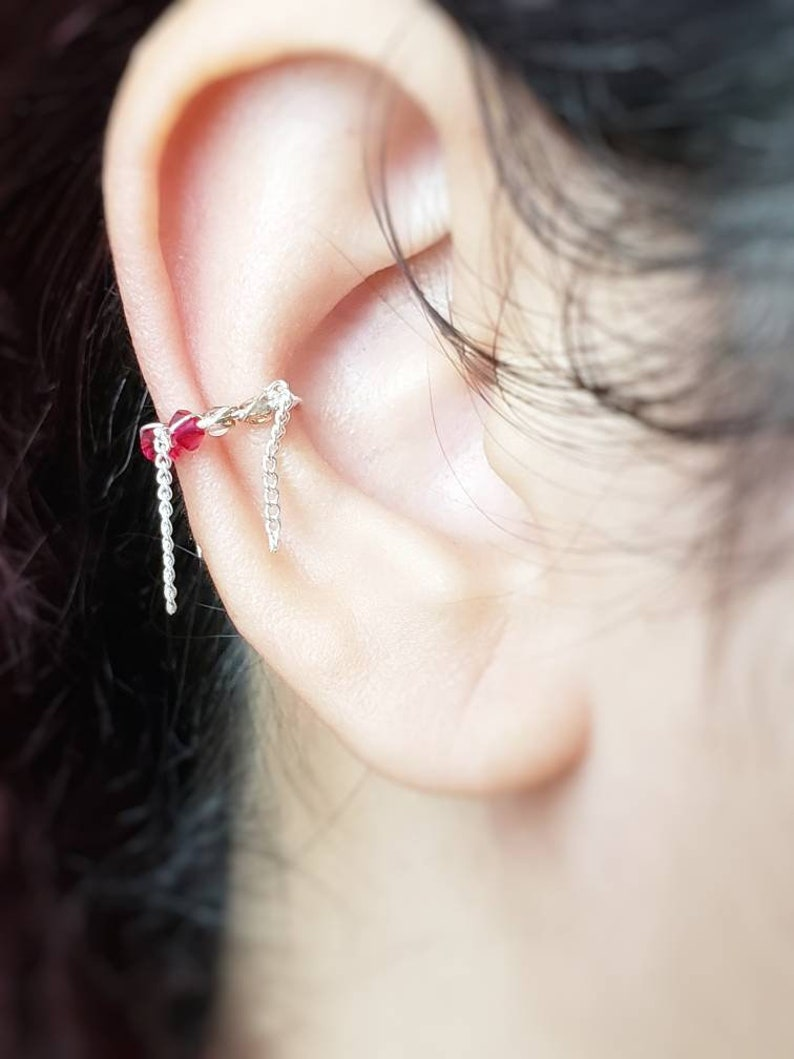Chain Ear Cuff Faux Piercing Jewelry No Piercing Required image 0