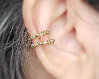 Double Ear Cuff - Conch Earring - No Piercing Jewelry