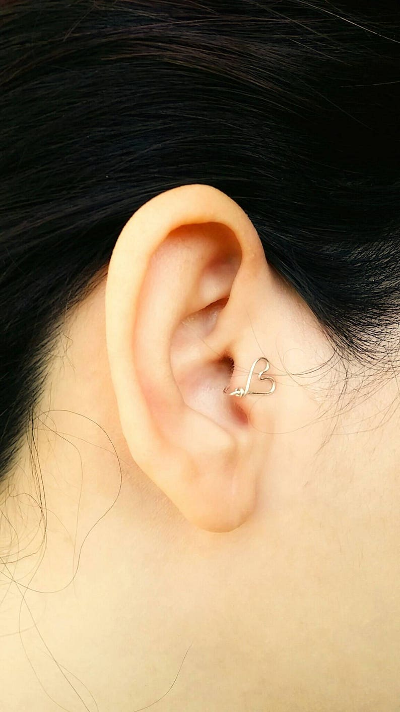 Heart Tragus Earring  Fake Piercings  Faux Piercing  No image 0