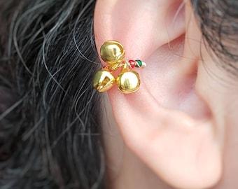Jingle Bells Ear Cuff, No Piercing Jewelry, Conch Earrings