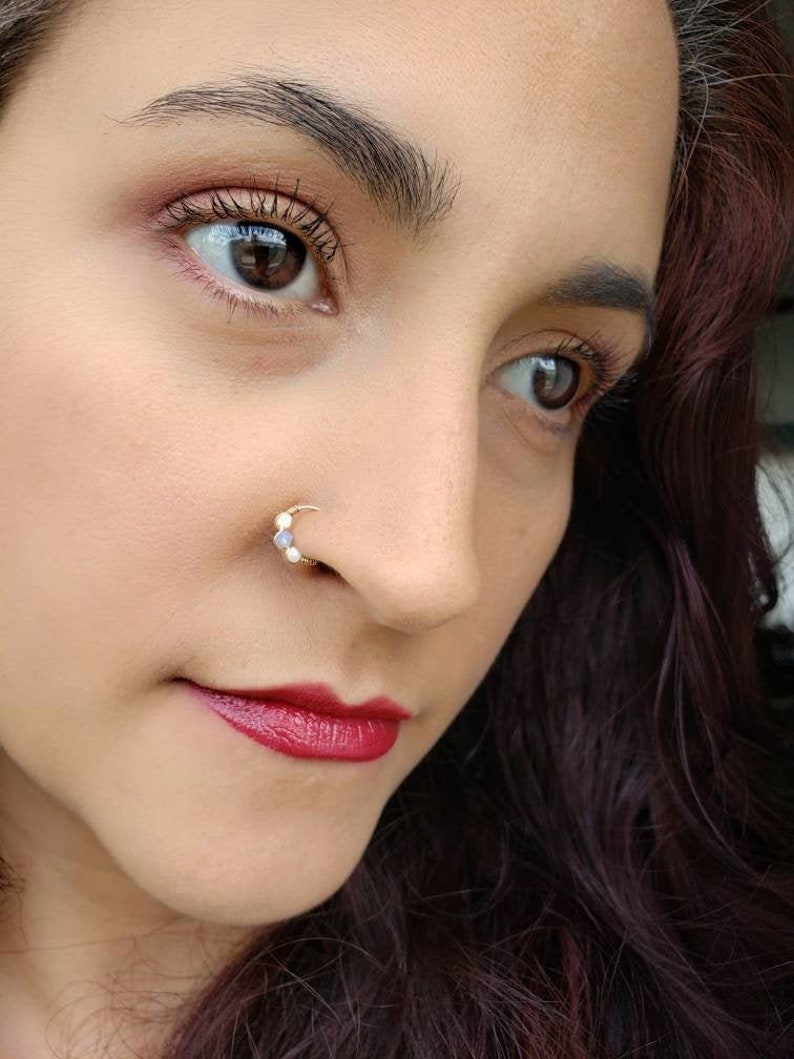 Thin Fake Nose Ring  Nose Ring  Clip On Nose Ring  Faux image 0
