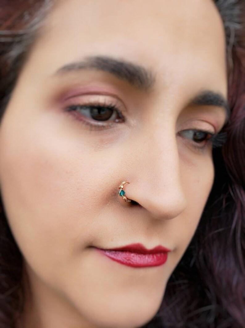 8mm Nose Ring  Silver Fake Nose Ring  Nose Ring  Clip On image 0
