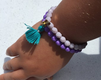 The Little Shooting Star (Youth Beaded Bracelet with tassel option)