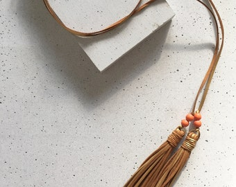 The Texas Tailgate Tassel Necklace