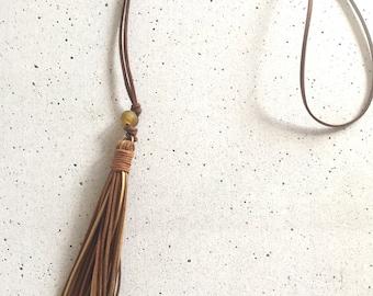 The Elaine Tassel Necklace