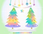 Items Similar To On Sale Christmas Clipart Rainbow Christmas