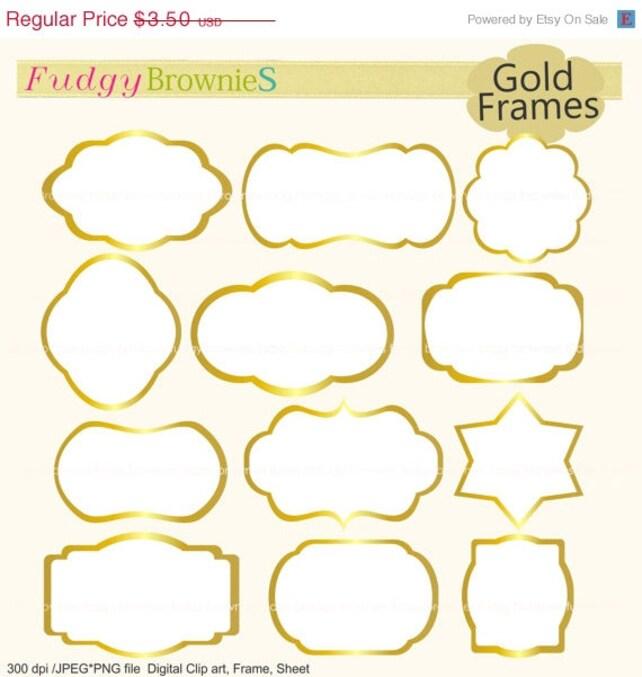ON SALE gold frames clipartwhite background frameframe | Etsy