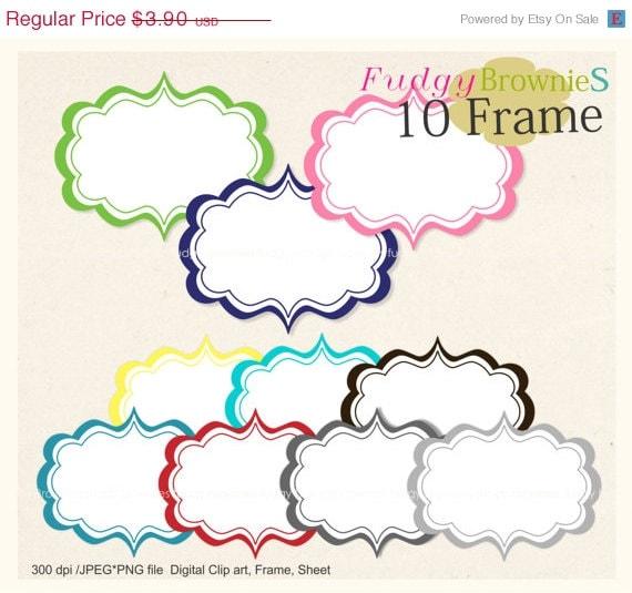 ON SALE Digital frame square frames instant download white | Etsy