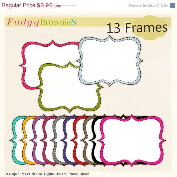 on sale quatrefoil frame clip art frames clipart colour etsy