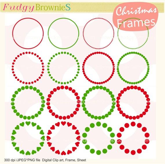 Auf Den Verkauf Weihnachten Kreis Rahmen Clipart Kreis Etsy