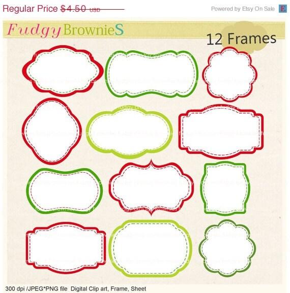 Auf Verkauf Rahmen Clipart Rahmen Weihnachten Rahmen Clipart Etsy