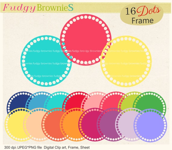 On Saledots Circle Frames Clipart Color Circle Frames Clip Etsy